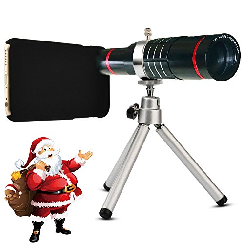 Youniker Optical Camera Lens Kit for iPhone 7 Plus,18x Manual Focus Telephoto Lens for iPhone 7 Plus,Including 18x Aluminum Zoom Telescope Camera Lens with Tripod + iPhone7 Plus Case