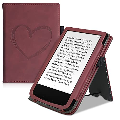 kwmobile flip cover compatibel met Pocketbook Touch Lux 4/Lux 5/Touch HD 3/Color (2020) – Book case met magnetische…