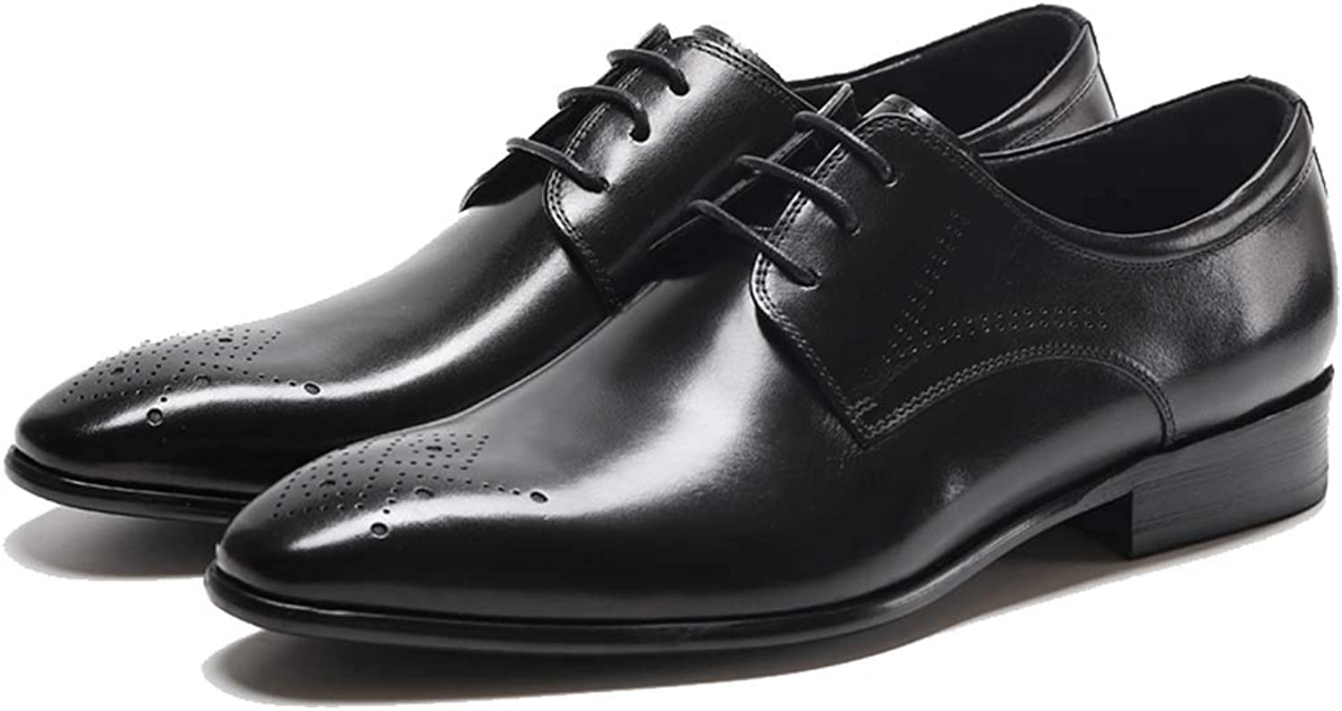 689848f4b40 MISS&YG Men's Office shoes Leather Dress Pointed Leather Leather ...