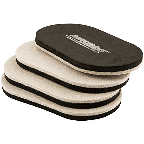 SuperSliders 4705295N Reusable XL Heavy Furniture Sliders for Hardwood Floors- Felt Floor Protectors, 9-1/2 x 5-3/4 Linen (4 Pieces)
