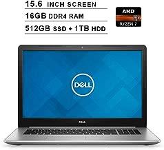 Dell 2019 Premium Inspiron 15 5000 15.6 Inch FHD Laptop (AMD Ryzen 7 2700U up to 3.8 GHz, 16GB DDR4 RAM, 512GB SSD + 1TB HDD, Radeon Vega 8, Bluetooth, WiFi, HDMI, Windows 10)