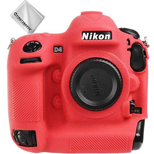rosso corpo pieno misura precisa TPU gomma custodia per fotocamera con trama fine per Nikon D4 XJP-Nikon D4-GJWL-08G11