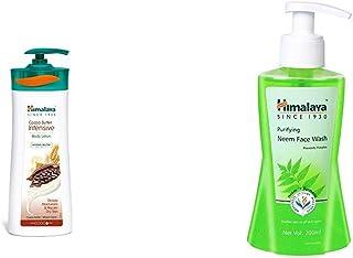 Himalaya Herbals Cocoa Butter Intensive Body Lotion, 400ml & Himalaya Herbals Purifying Neem Face Wash, 200ml