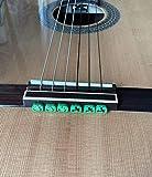 Alba Guitar Beads String Tie Guitar Retenedores de cuerda de nailon para guitarra acústica eléctrica clasica flamenco ukulele verdes