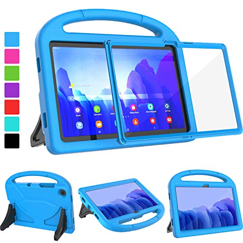 "TIRIN Kids Case for Samsung Galaxy Tab A7 10.4 inch 2020, Galaxy Tab A7 Kids Case, Built-in Screen Protector Lightweight Handle Stand Shockproof Case for Samsung Tab A7 10.4""(SM-T505/T500/T507) - Blue"