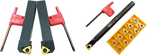 high quality ASZLBYM outlet online sale CNC Lathe outlet online sale Carbide Indexable Turning Tool Holder SER1616H16 SEL1616H16 SNR0013M16 with 2PCS 16ER/IR AG60 10PCS 16IR AG60BP010 Indexable Carbide Turning Insert Blade sale