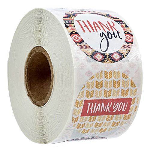 500 pegatinas de agradecimiento florales hechas a mano con flores, etiquetas adhesivas redondas con flores, para tarjetas de regalo, bodas, bricolaje sobre sellado de dulces y galletas (8 diseños)