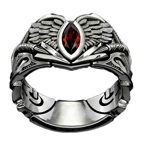 FTIK Vintage Valkyrie Ring, Anillos Punk gótico ,Berserker Ring Joyería pagana escandinava para Hombres y Mujeres