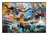 N / A James Hamilton 1000 T - Puzzle (72 x 51 cm), diseño de hipopótamo africano, cocodrilo, flamenco y nutria del agua