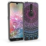 kwmobile Hülle kompatibel mit Nokia 4.2 (2019) - Handyhülle - Handy Hülle Indische Sonne Blau Pink Transparent
