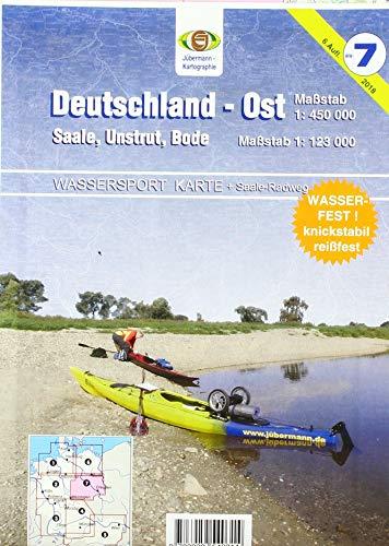 Wassersport-Karte / Deutschland Ost für Kanu- und Rudersport: Mit Nebenkarten Saale, Unstrut und Bode