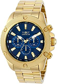 Invicta Men's Pro Diver Quartz Watch with Stainless-Steel Strap, Gold, 24 (Model: 22719)