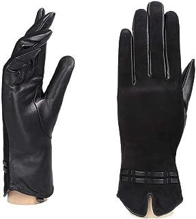 YISEVEN Women's Winter Sheepskin Suede Touchscreen Leather Gloves Elegant Design