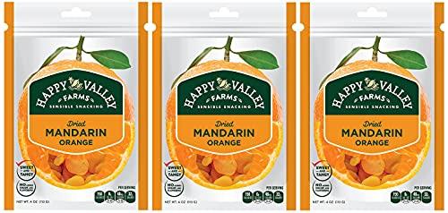 Happy Valley Farms Dried Mandarin Orange 4 oz, 3-Pack