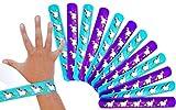 LG-Imports - 12 x Magische Einhorn Schnapparmbänder ┃ NEU ┃ Regenbogen ┃ Mitgebsel ┃ Kindergeburtstag ┃ 12 Stück