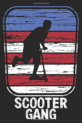 Scooter gang: Notebook (128 pages) with dot grid - for scooter fans - great gift for birthday, christmas or 4th of july - american flag