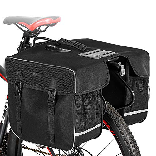 Waysad - Bolsa trasera para bicicleta (impermeable, desmontable, bolsa para bicicleta de montaña, carretera, deportes al aire libre, bolsa para maletero, accesorios para bicicleta, 30 L)