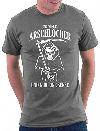 Million Nation So viele Arschlöcher und nur eine Sense T-shirt, Größe L, Darkgrey