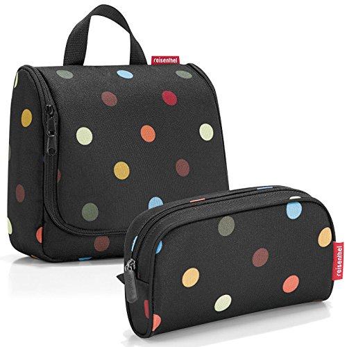 reisenthel Exklusiv-Set: toiletbag Kulturtasche Plus GRATIS makeupcase Kosmetiktasche Etui (dots)