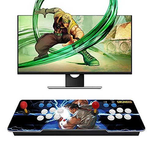 Juegos Clásicos Consola De Videojuegos, 8000 In 1 Multijugador Arcade Game Console, con 2 Botones De Joystick Partes De La Fuente De Alimentación Salida Hdmi Vga USB