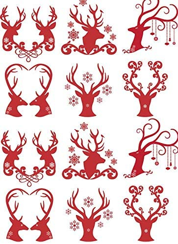 Reindeer Antler Dallas Mall Hearts - Decal Oklahoma City Mall Ceramic 11318 Enamel