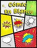 Cómic en blanco: Plantilla de cómic en blanco para niños y adultos. 120 plantillas diferentes sin bocadillos