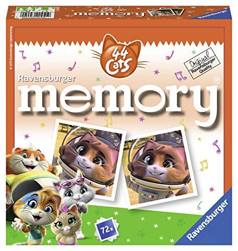 Ravensburger 20451 - 44 Cats memory, der Spieleklassiker für alle Fans der TV-Serie 44 Cats, Merkspiel für 2-8 Spieler ab 4 Jahren
