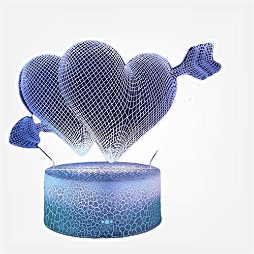 Heart Love Gifts - Lámpara de mesa LED con 16 colores cambiantes para regalo de cumpleaños de Navidad