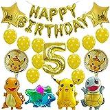 YSJSPKK Globos 1 set Pikachu Jenny Turtle Globos Decoración de Fiesta de Cumpleaños Niños Dibujos Animados Baby Shower Globo Inflable Juguete (Color: Gris Claro