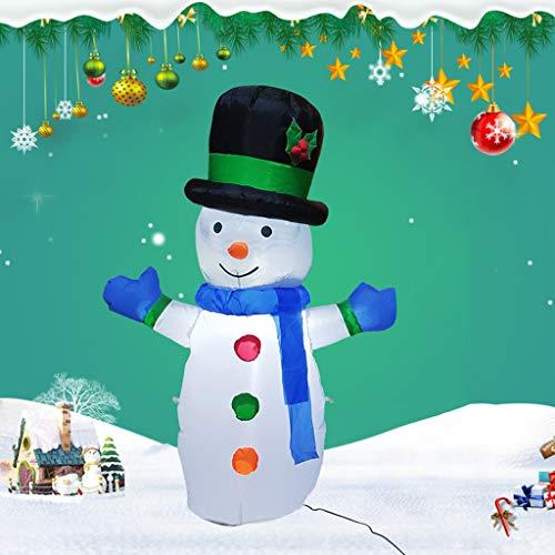 1.2Meters / 4 Feet Riesiger Aufblasbarer Schneemann, Glühend Weihnachtsaußendekoration Mit LED-Licht, Weihnachten Inflatables Spielzeug in Yard Garten