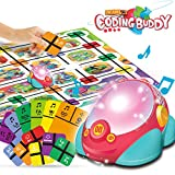 REMOKING Robot Toy, Educational Puzzle Race Game Program Robotics, STEM Music and Light Coding Robot Toys, Learning Recognize Color Toy, Great Gifts for Kids 3 Years and up