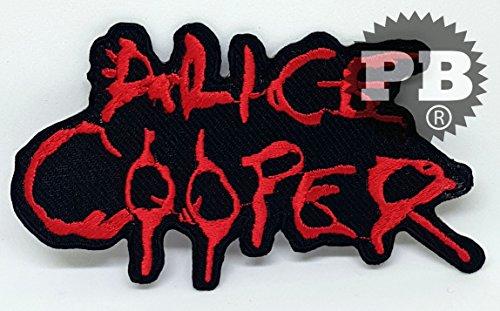 Alice Cooper Punk Rock Heavy Metal Música Sew de hierro en parche...