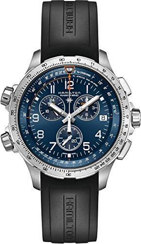 Reloj Hamilton Khaki X-Wind GMT Chrono Cuarzo Correa Caucho H77922341