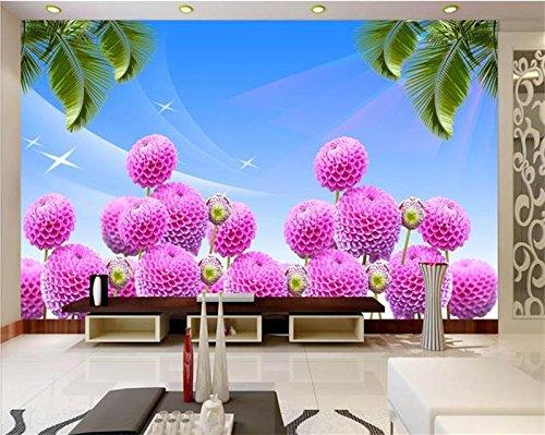 Abihua Wandbilder Benutzerdefinierte Größe 3D Foto Tapete Zimmer Wandbild Kaffee Pavillon Thema Pavillon 3D Malerei Sofa Tv Hintergrundbild Für Wände 3D 200Cm X 100Cm