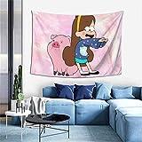shibeili Waddles Mabel Pines Gravity Falls Anime Tapiz Tapiz, Decoración del hogar, Sala de Estar Dormitorio Dormitorio Decoración 60x40 Pulgadas