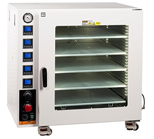 Across International AT75a.110.UL Ai AccuTemp UL CSA Certified 7.5 cu. ft. Vacuum Oven with 5 Heated Shelves, Oil-Filled Gauge and LED Lights, 110V, 50/60Hz, 1500W, Stainless Steel