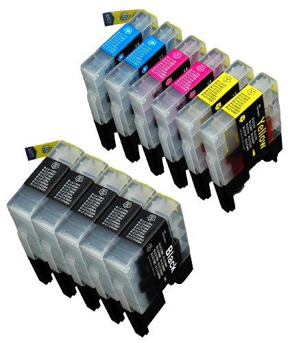 11 Multipack de alta capacidad Brother LC1240 , LC1280 Cartuchos Compatibles 5 negro, 2 ciano, 2 magenta, 2 amarillo para Brother DCP-J525W, DCP-J725DW, DCP-J925DW, MFC-J430W, MFC-J5910DW, MFC-J625DW, MFC-J6510DW, MFC-J6710DW, MFC-J6910DW, MFC-J825DW. Cartucho de tinta . LC-1240BK , LC-1240C , LC-1240M , LC-1240Y © 123 Cartucho
