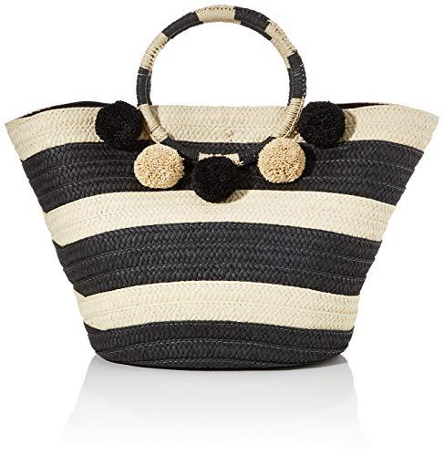 s.Oliver (Bags), Shopper. Donna, 99g1 Strisce Grigie/Nere, 1