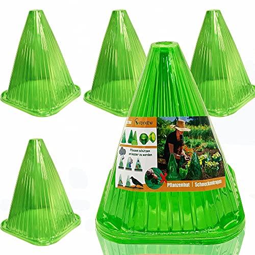 VDYXEW Schneckenabwehr Pflanzenhut, Pflanzenhut 40er-Pack aus Kunststoff, zum Schutz vor Sonne, Frost, Schnecken etc.