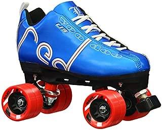 Labeda New Voodoo U3 Quad Roller Speed Skates Customized Blue Skate w/Red Dart Wheels!