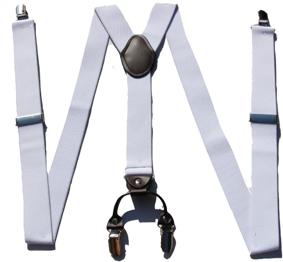 NJBYX Braces for Men & Women Fully Adjustable Y Shape Adults Slim Suspenders Braces for Trousers (Color : C, Size : Adjustable)
