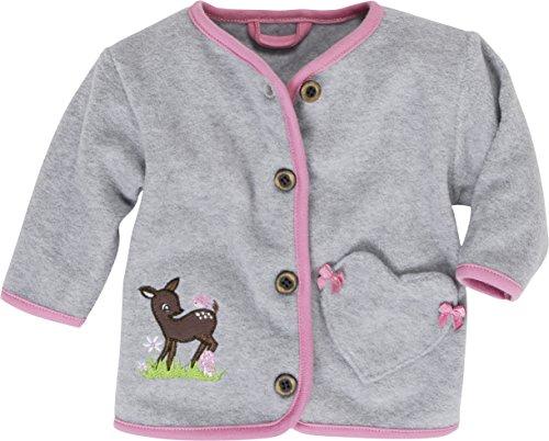 Schnizler Fleece-Jacke Reh Blouson, Gris (Grey/Mélange 37), 12-18 Mois (Taille Fabricant:86) Mixte bébé