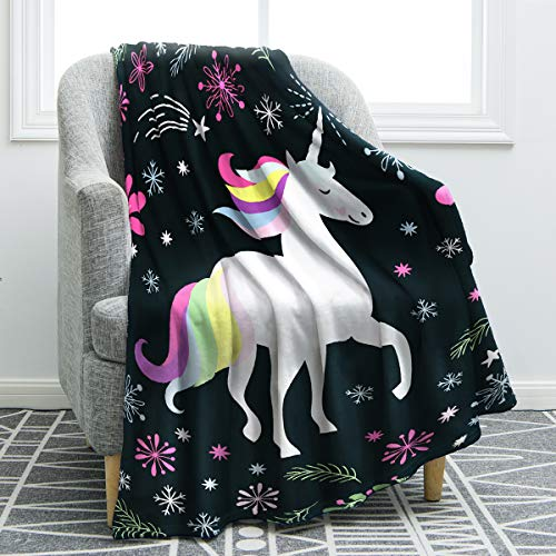 "Jekeno Unicorn Blanket Comfort Print Throw Blanket for Sofa Chair Bed Office Adults Kids Gift 50""x60"""
