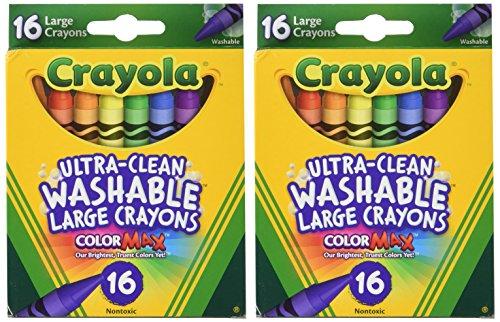 Crayola Large Washable Crayons 16 Pack - 2 Packs