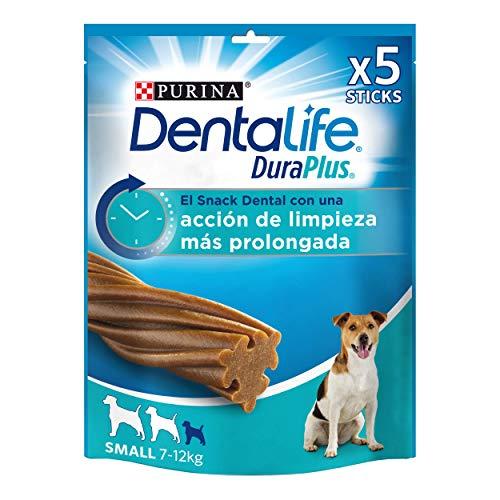 Purina DentaLife DuraPlus - Snack Dental para Perros Pequeños, 5 x 170g