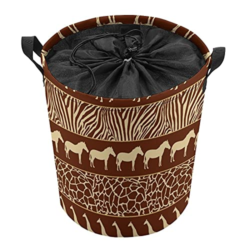 Cubo de almacenamiento impermeable grande organizador ligero cesta para la colada, cubos de juguete, cestas de regalo, ropa sucia, dormitorio de los niños, baño de animales de color marrón