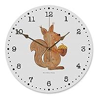❤ 100% MR. & MRS. PANDA - 30 cm Wanduhr Eichhörnchen Weihnachten - Maße 300mm x 300mm x 50mm - Die erfolgreiche Marke Mr. & Mrs. Panda steht mit über 500.000 Fans auf den sozialen Medien und über 100.000 Bestellungen für besondere Qualität, Kundenser...