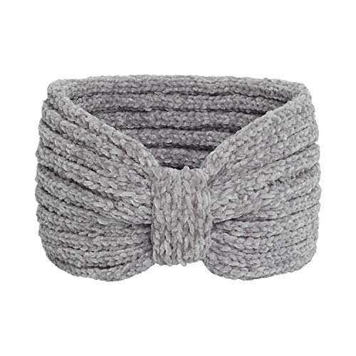 YIYYI 2 Piezas De Invierno De Punto Diademas Diademas Grueso Crochet Turbante Bowknot Calentador De Orejas para Mujeres Niñas