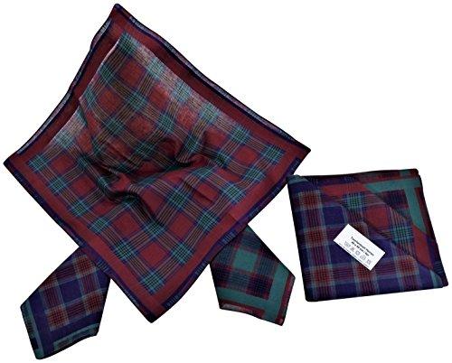 Pañuelo de Bolsillo para Hombres   6 piezas en 3 colores diferentes   Dibujo a cuadros rojo y verde   Cuadrado 40 x 40 cm   Ocasiones especiales