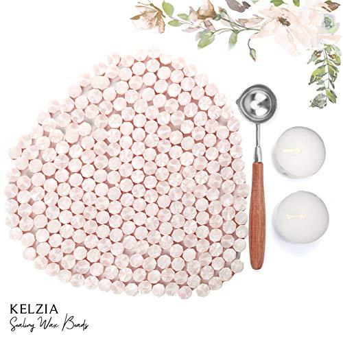 230 Piezas de Cera de Sellado Octagonal con 2 Velas de Té + 1 Cuchara de Fundir. Cera para Sello de Cera (LOTUS)
